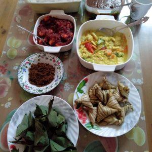 resipi lontong, resipi masak lodeh, resipi sambal udang