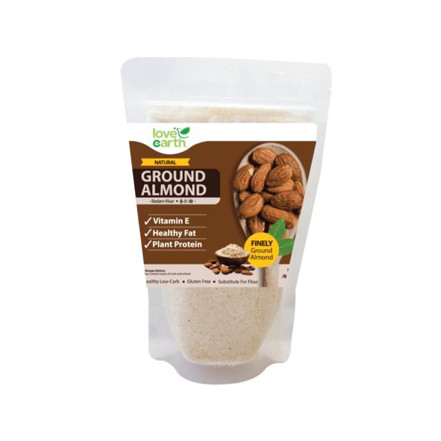 organic almond flour, kek coklat keto