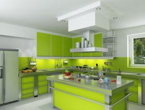skema warna hijau